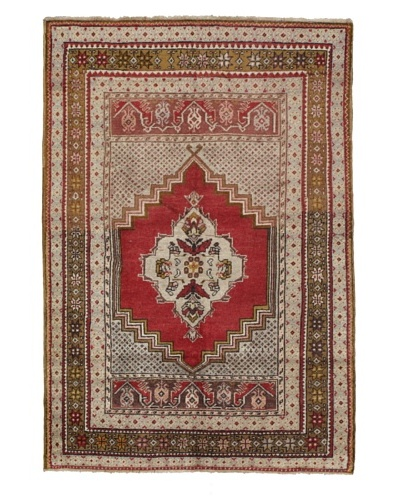 Momeni One of Kind Vintage Authentic Turkish Anatolian Rug, 3'8 x 5'4