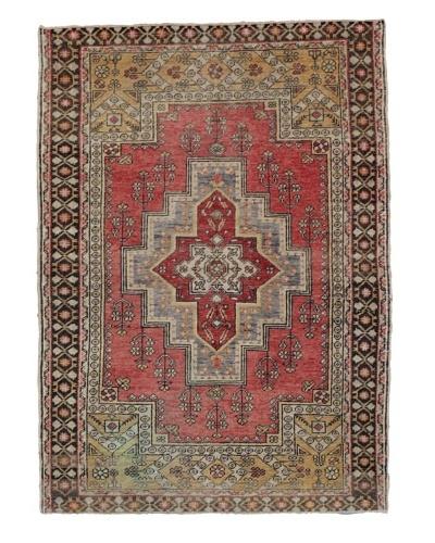 Momeni One of Kind Vintage Authentic Turkish Anatolian Rug, 4'3 x 6'