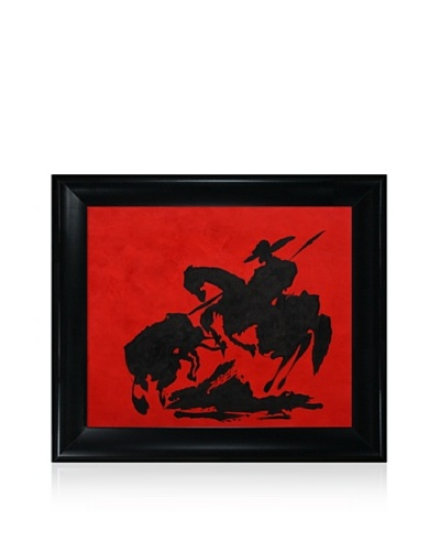 Pablo Picasso Bullfight I Painting Framed Oil Painting, 20 x 24