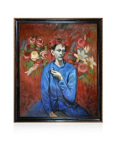 Pablo Picasso Boy with Pipe Framed Oil Painting, 20 x 24