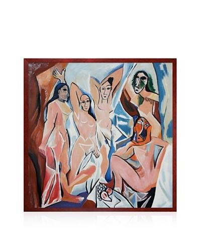 Pablo Picasso Les Demoiselles D'Avignon Framed Oil Painting, 24 x 24