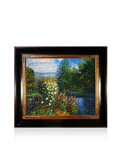 Claude Monet Corner of the Garden at Montgeron Framed Oil Painting, 20 x 24
