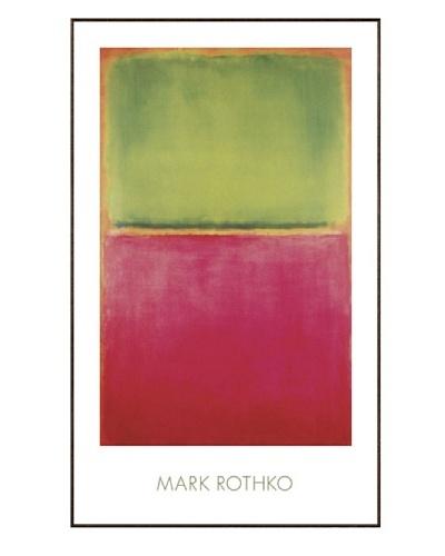 Mark Rothko: Green, Red, on Orange