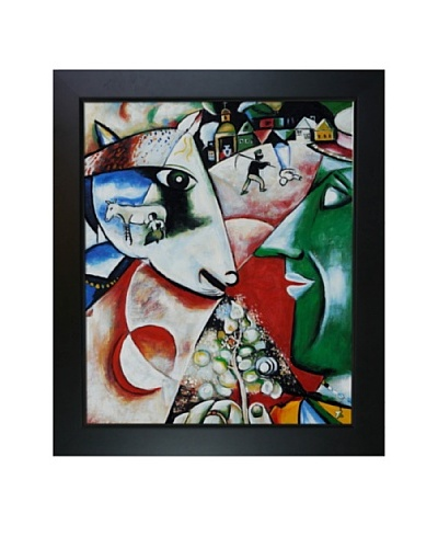 Marc Chagall I and the Village Framed Oil Painting, 24 x 20
