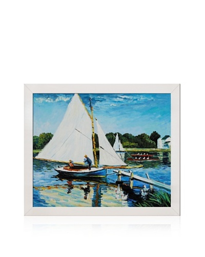 Claude Monet Sailing at Argenteuil Framed Oil Painting, 20 x 24