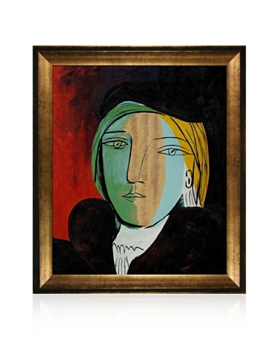 Pablo Picasso Portrait of Marie Therese Framed Oil Painting, 20 x 24