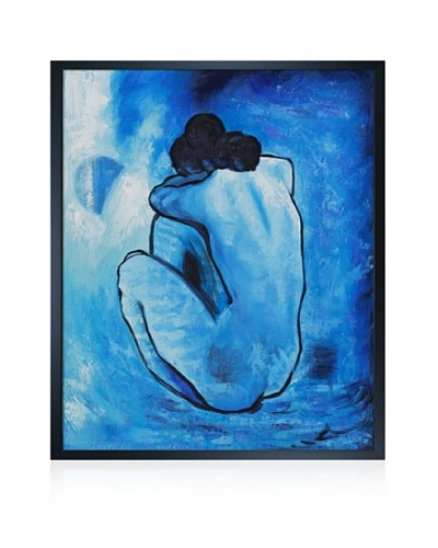 Pablo Picasso Blue Nude Framed Oil Painting, 20 x 24