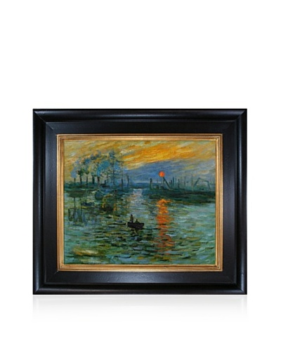 Claude Monet Impression, Sunrise Framed Oil Painting, 20 x 24
