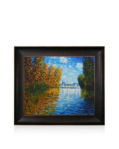 Claude Monet Autumn at Argenteuil Framed Oil Painting, 20 x 24