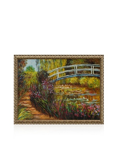 Claude Monet The Japanese Bridge Framed Oil Painting,  36 x 48