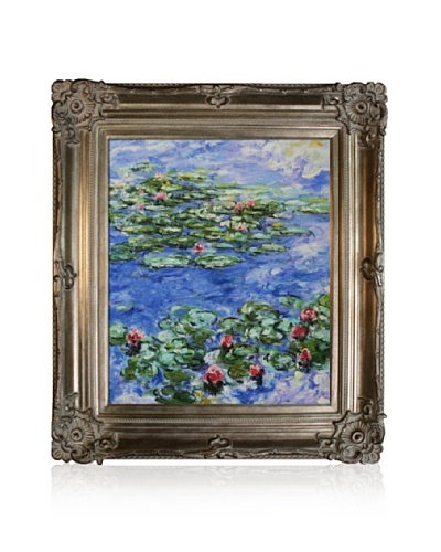 Claude Monet Water Lilies Framed Oil Painting, 20 x 24