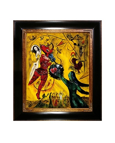 Marc Chagall The Dance Framed Oil Painting, 24 x 20