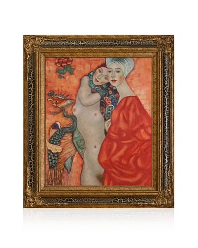 Gustav Klimt Girl Friends Framed Oil Painting