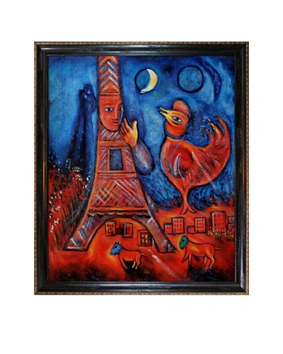 "Marc Chagall Bonjour Paris, 1939-1942 Framed Oil Painting, 24"" x 20"""