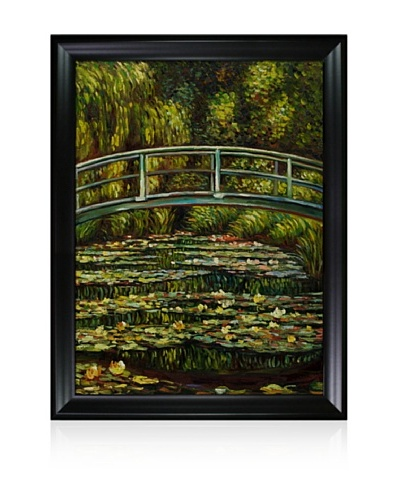Claude Monet White Water Lilies, 1899 Framed Oil Painting, 36 x 48