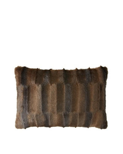 Montague & Capulet Faux Mink Boudoir Pillow, Chocolate