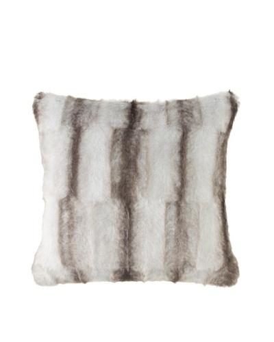 Montague & Capulet Faux Mink Pillow, Grey