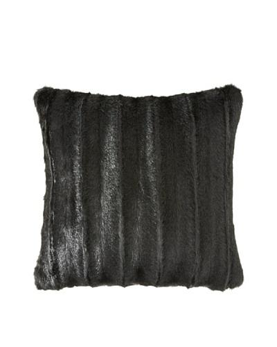 Montague & Capulet Faux Mink Pillow, Black