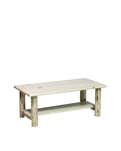 Montana Woodworks Montana Collection Coffee Table with Shelf