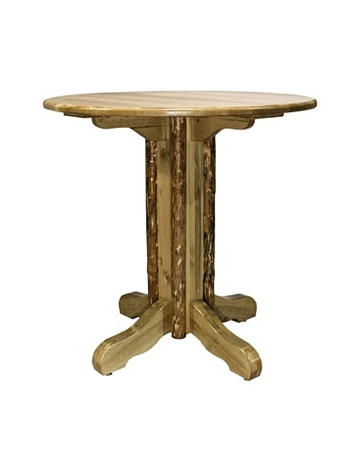 Montana Woodworks Glacier Country Center Pedestal Table