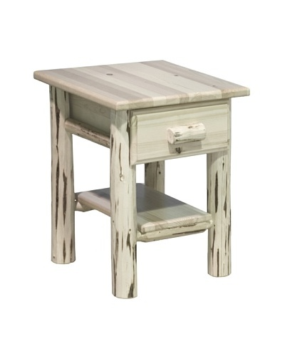 Montana Woodworks Montana Collection Drawer & Shelf Night Stand