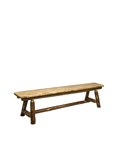 Montana Woodworks Glacier Country 6-Foot Plank Style Bench