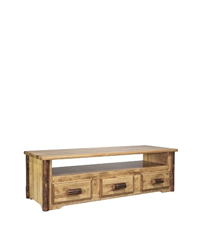 Montana Woodworks Glacier Country Sitting Chest/Entertainment Center
