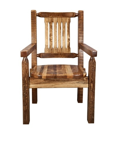 Montana Woodworks Homestead Stained & Lacquered Captain's Chair