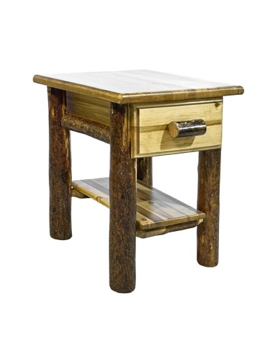 Montana Woodworks Glacier Country Shelf & Drawer Night Stand