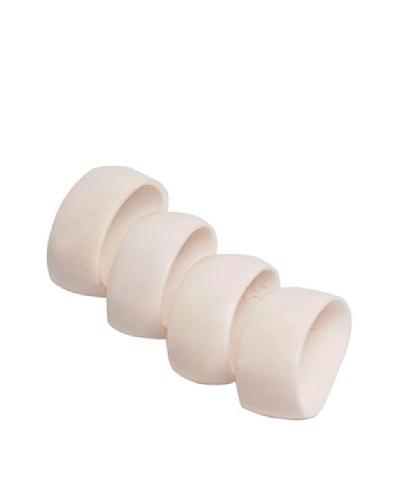 Moo-Moo Designs Bone Napking Rings, Off-White