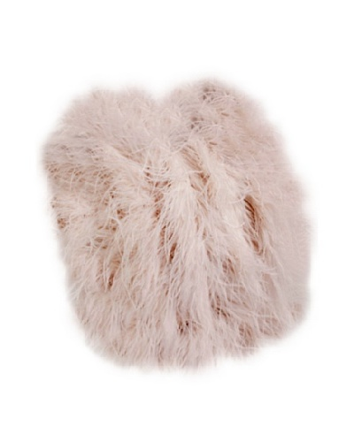 """Moo-Moo Designs Ostrich Feather Pillow, Pale Pink, 18"""" x 18"""""""