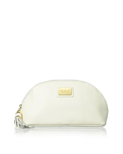Morelle & Co. Miriam Saffiano Leather Cosmetic Bag, Cream