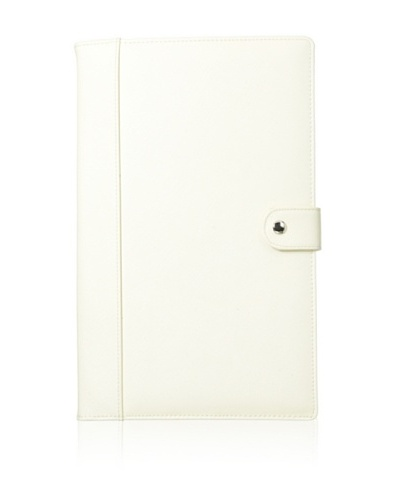 Morelle & Co. Naomi Saffiano Leather Jewelry Notebook, Cream