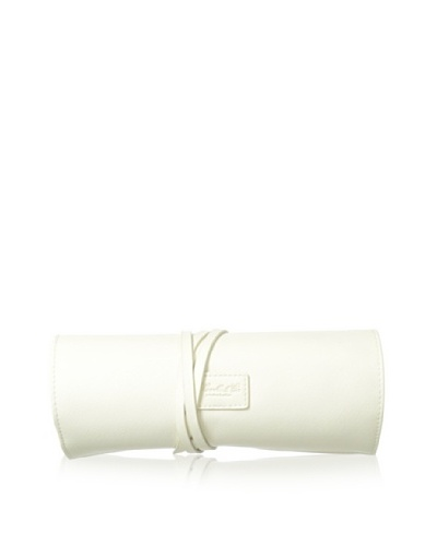 Morelle & Co. Carrie Saffiano Leather Jewelry Roll, Cream