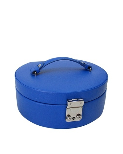 Morelle & Co. Linda Half Moon Leather Jewelry Box, Dazzling Blue