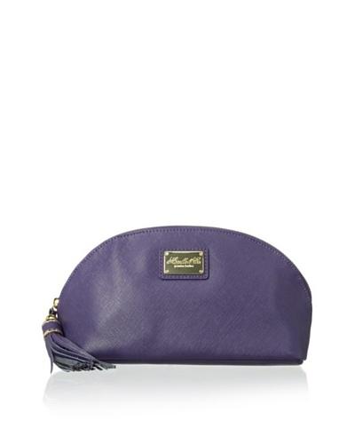 Morelle & Co. Miriam Saffiano Leather Cosmetic Bag, Purple