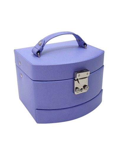 Morelle & Co. Laura Leather Expandable Jewelry Box, Violet Tulip