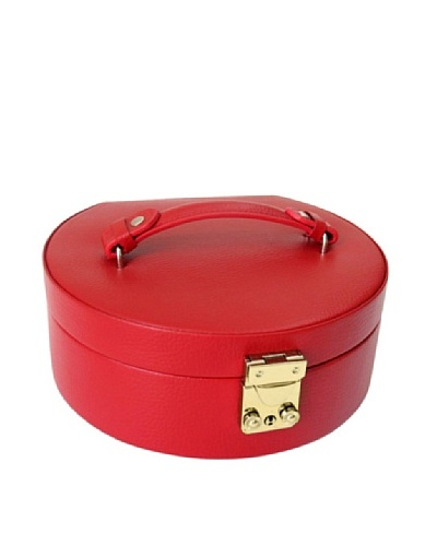 Morelle & Co. Linda Half Moon Jewelry Box, Red