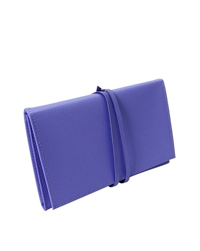Morelle & Co. Audrey Leather Jewelry Envelope, Violet Tulip