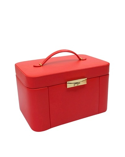 Morelle & Co. Natalie Leather Two Side Pullout Jewelry Box, Poppy Red