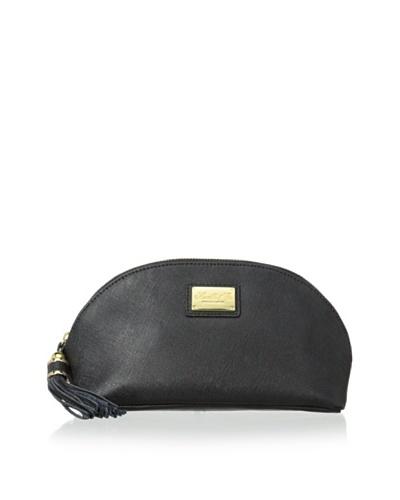 Morelle & Co. Miriam Saffiano Leather Cosmetic Bag, Black