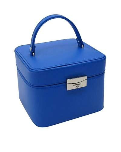 Morelle & Co. Emma Small Leather Jewelry Box, Dazzling Blue