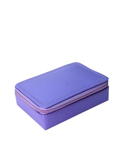 Morelle & Co. Vicky Zippered Jewelry Case, Violet Tulip