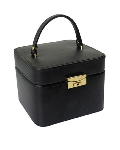 Morelle & Co. Emma Small Leather Jewelry Box, Black