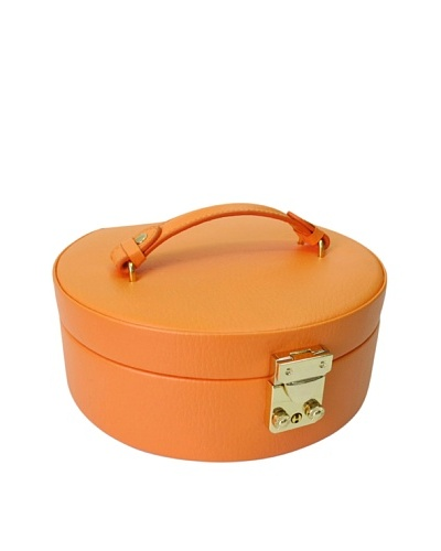 Morelle & Co. Linda Half Moon Leather Jewelry Box, Nectarine