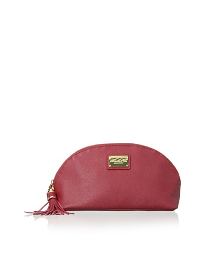 Morelle & Co. Miriam Saffiano Leather Cosmetic Bag, Red