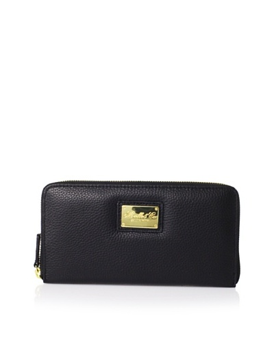Morelle & Co. Leather Zip Wallet, Black