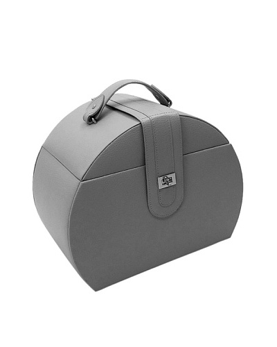 Morelle & Co. Diana Leather Purse Jewelry Box with Takeaway Case, Paloma Grey