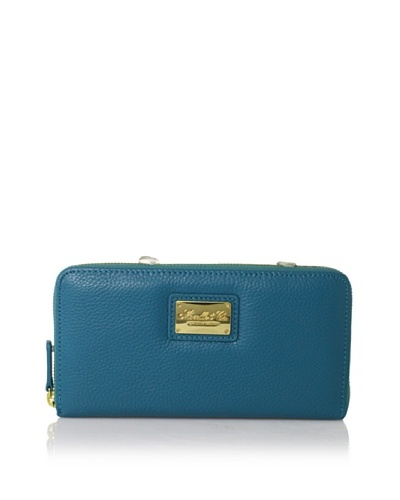 Morelle & Co. Leather Zip Wallet, Turquoise