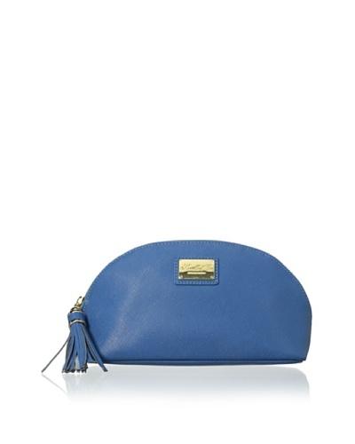 Morelle & Co. Miriam Saffiano Leather Cosmetic Bag, Blue